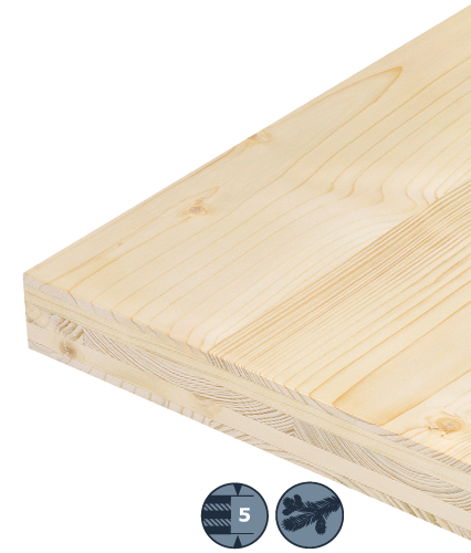 5-layer softwood board